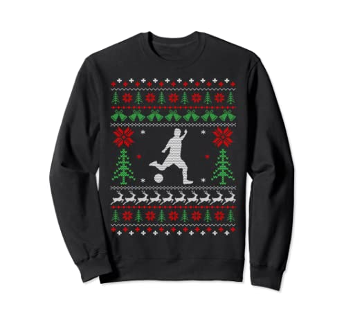 Christmas Gifts For Soccer Lovers Soccer Ugly Christmas Sweatshirt