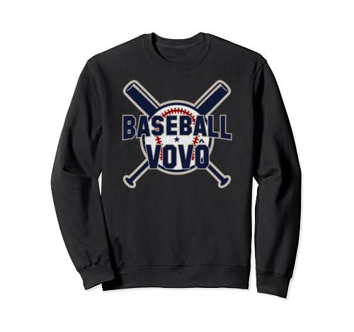 Baseball Vovo Softball Papa Funny Father's Day Gift Grandpa Sweatshirt