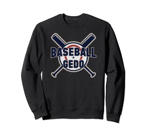 Baseball Gedo Softball Papa Funny Father's Day Gift Grandpa Sweatshirt
