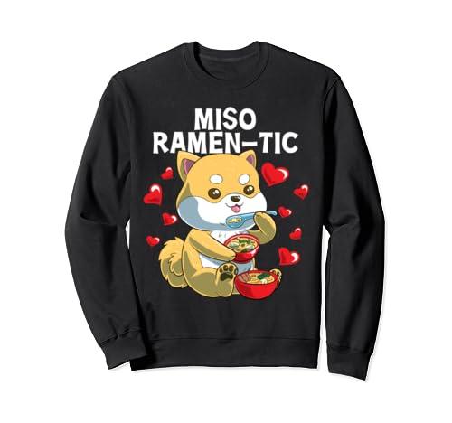 Cute Japanese Shiba Inu Miso Ramen Tic Valentines Day  Sweatshirt