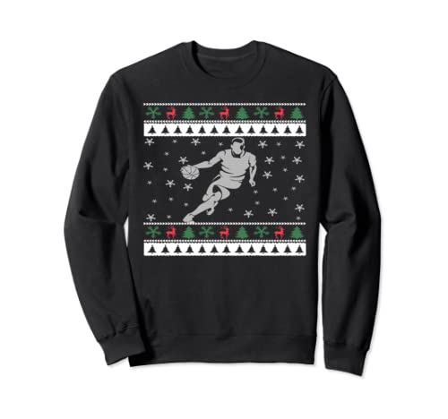 Basketball Lover Ugly Christmas  Sweatshirt