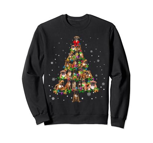 Boxer Christmas Tree X Mas Gift Sweatshirt