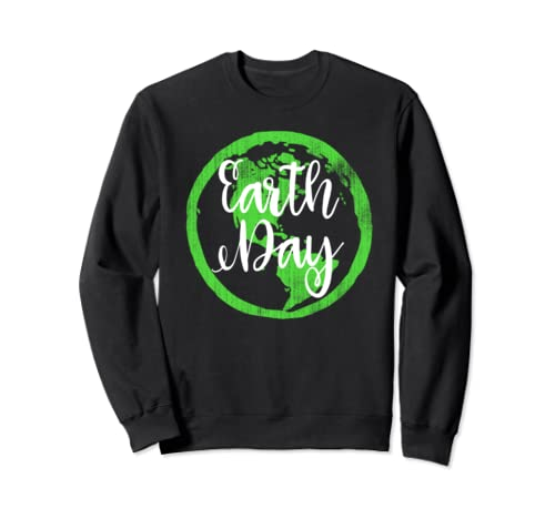 Earth Day Green Globe Cool  Sweatshirt