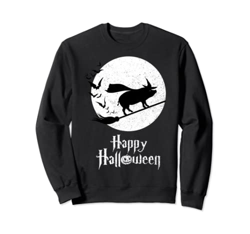 Witch Funny Halloween Costume Pig Lovers Sweatshirt