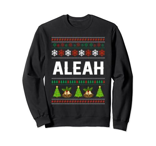 Aleah Christmas Family Ugly Christmas Sweatshirt  Sweatshirt