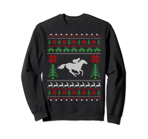 Christmas Gifts For Horse Riders Horse Ugly Christmas Sweatshirt