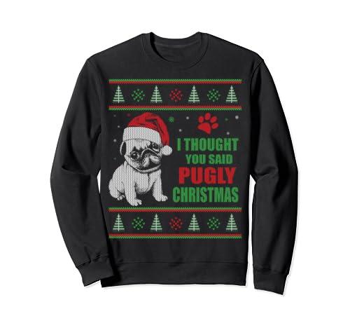 Pug Dog Ugly Christmas Sweatshirt
