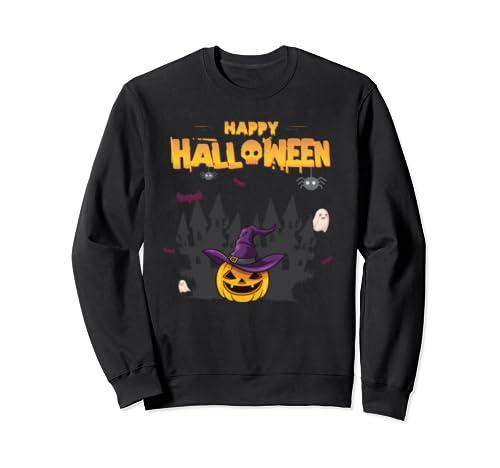 Happy Halloween Pumpkin Witch Designs Sweatshirt