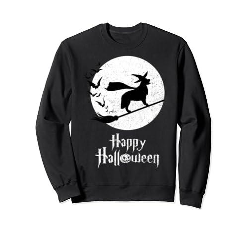 Witch Funny Halloween Costume Retrievers Golden Lovers Sweatshirt