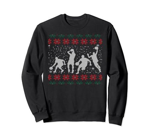 Basketball Ugly Christmas Gift Sweatshirt