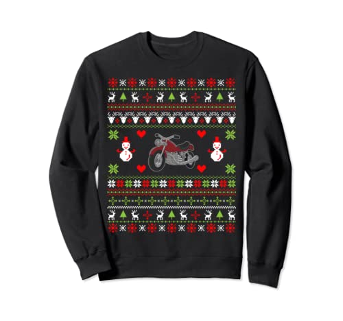 Motorcycle Christmas Gifts Motorcycle Ugly Christmas Sweatshirt