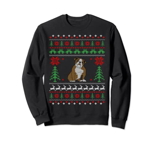 Bulldog Christmas Gifts Bulldog Ugly Christmas Sweatshirt