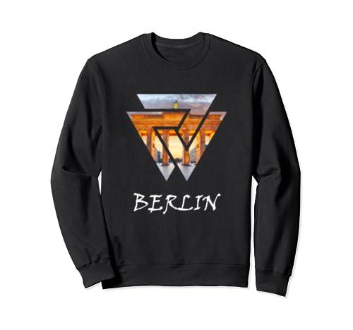 Berlin Travel, Brandenburg Gate Geometric Sweatshirt