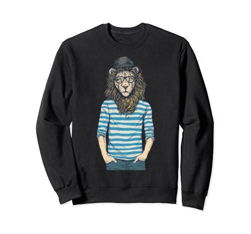 Hipster Lion Product Sweatshirt