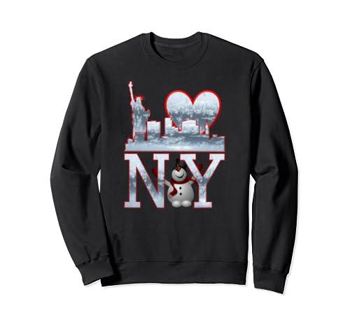 I Love Ny New York, Snowman  Sweatshirt