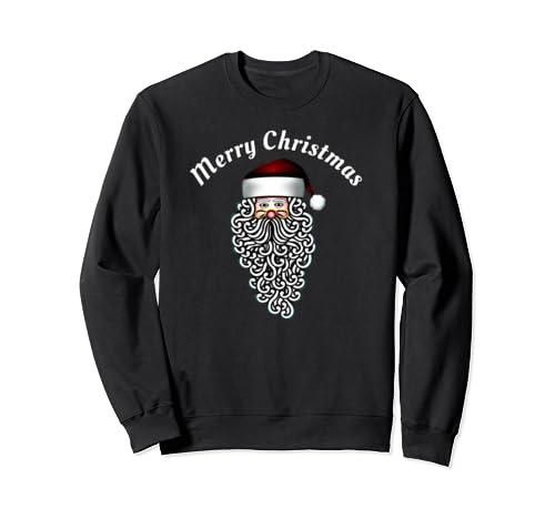 Christmas Shirt Elegant Sant Claus Shirt Merry Christmas Sweatshirt
