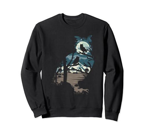 Owl    Stylish Funny Owl  Sweatshirt
