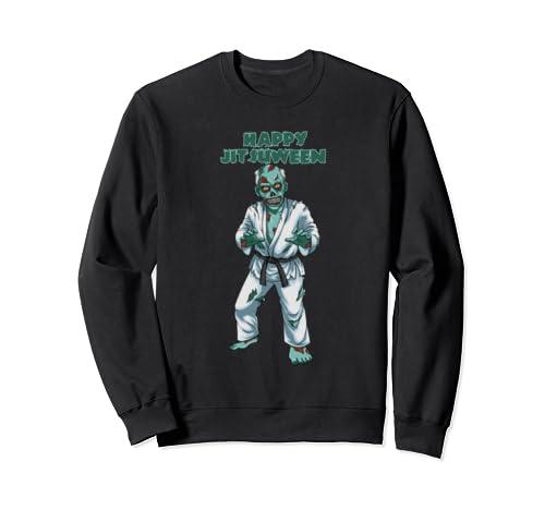 Halloween Zombie Fighter   Brazilian Jiu Jitsu, Bjj Gift Sweatshirt