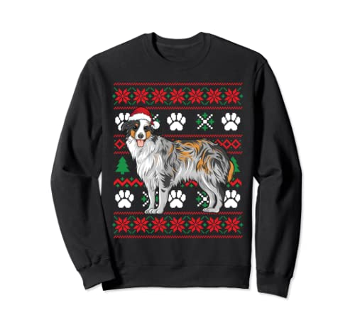 Australian Shepherd Ugly Christmas T Shirt Funny Dog Lover  Sweatshirt
