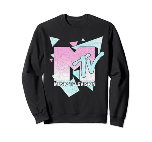 Mtv Retro Triangles Bold Logo Sweatshirt