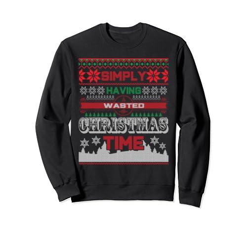 Christmas Drinking Buddies Simply Having A Wasted Christmas Sweatshirt