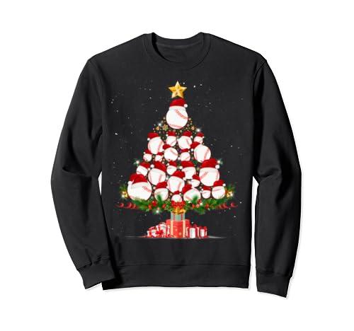 Merry Christmas Gift T Shirt Christmas Tree Baseball Gift Sweatshirt
