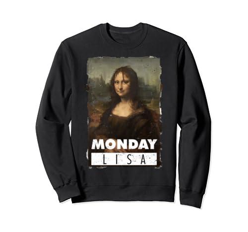 Monday Lisa Tee, Women's Tshirt Meme Monday Mona Lisa Sweatshirt