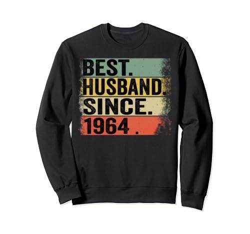 55th Wedding Anniversary Gifts Best Husband Since 1964 Sweatshirt