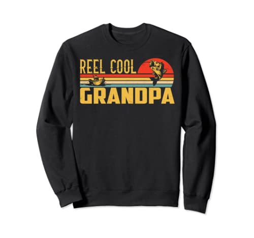 Reel Cool Grandpa Tshirt Father's Day Grandpa Fishing Gift Sweatshirt