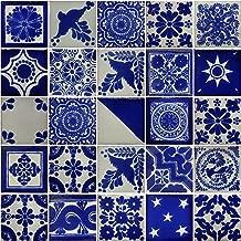 Color y Tradicion 50 Hand Painted Decorative Talavera Mexican Tiles 2