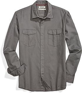 Amazon Brand - Goodthreads Men's Standard-Fit Long-Sleeve Ripstop Dobby Shirt