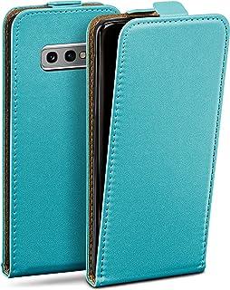 moex Flip Case voor Samsung Galaxy S10e - Hoes inklapbaar, 360 graden klaphoes van veganistisch leer, telefoonhoes met ver...