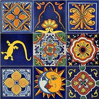 COLOR Y TRADICIÓN 9 Hand Painted Talavera Mexican Tiles 4