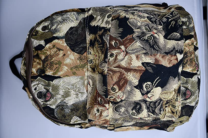 Signare 25482-Cat Cat Tapestry Large Backpack,