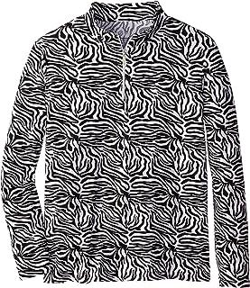 Bette & Court Women's Animal Print Cool Elements Sun Protection Shirt, Black, X-Large
