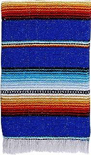 "El Paso Designs Serape falsa Blanket- 57""x74"" Classic Mexican Serape Pattern in Vivid Color- Hand Woven Acrylic Falsa Blan..."