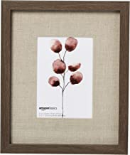 """AmazonBasics Gallery Wall Frame - 9"""" x 11"""" Frame For 5"""" x 7"""" Photo Display, Aged Walnut (2-Pack)"""