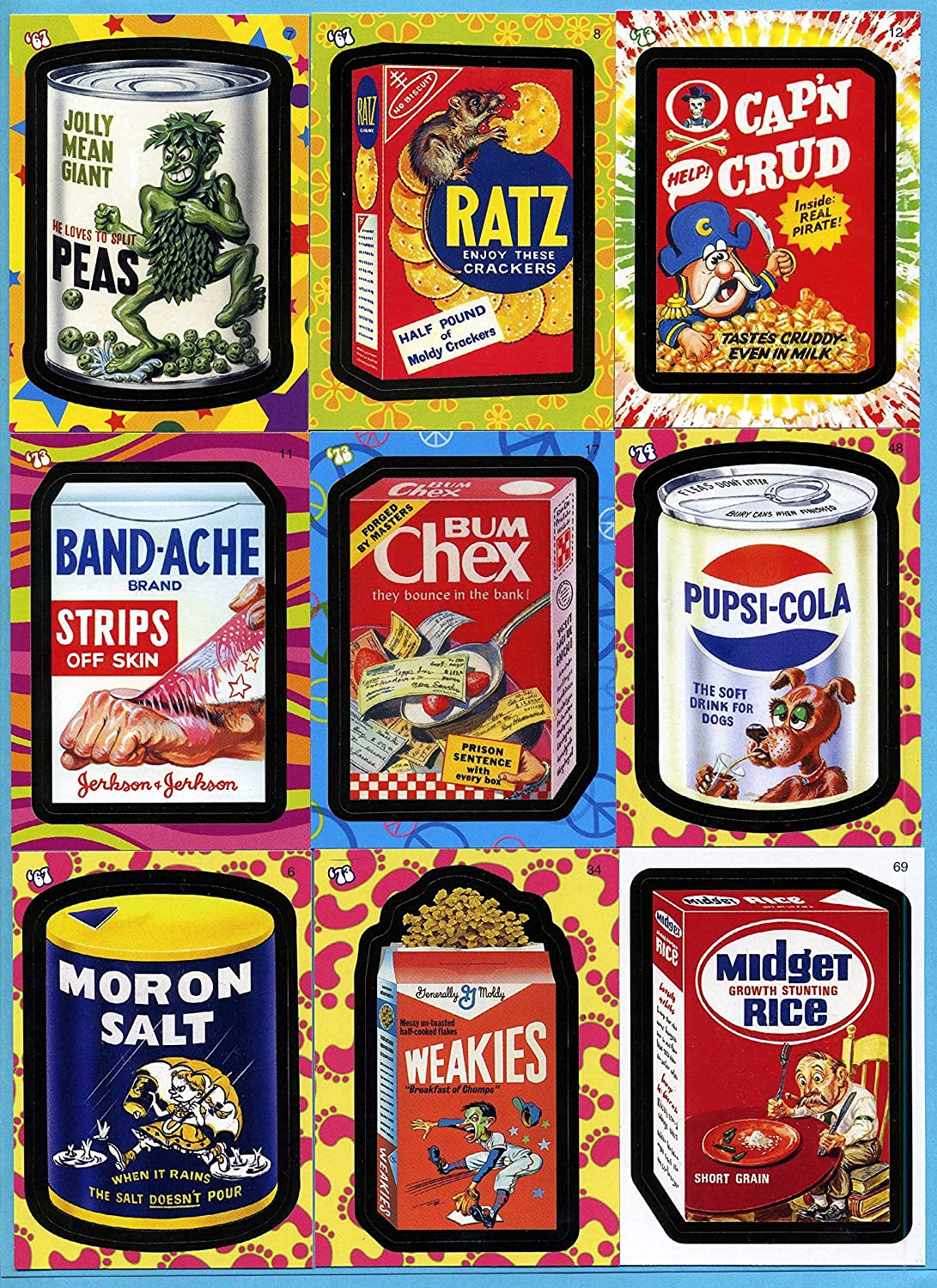 Wacky Packages Flashback Series Purchase 1 OFFer ~ OOP Now 72 Set Card