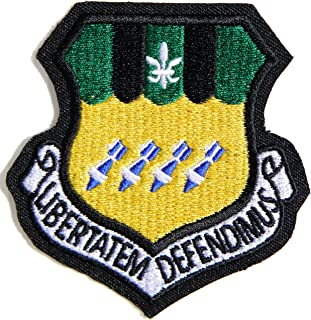 2nd BOMB WING 2 BW LIBERTATEM DEFENDIMUS Air Force RAF USAF Army Military Logo Shield Jacket Uniform Patch Sew Iron on Embroidered Sign Badge Costume