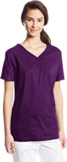 CHEROKEE Women's Workwear Core Stretch V-Neck Scrubs Shirt, Eggplant, Small
