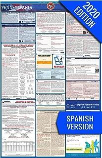 2020 Pennsylvania (Spanish) Labor Law Poster – State, Federal, OSHA Compliant – Single Laminated Poster