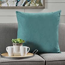 Christopher Knight Home Soyala Soft Smooth Fabric Throw Pillow (Dark Teal), 22.00 in. deep x 22.00 in. wide x 6.30 in. high