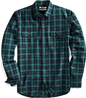 Goodthreads Men's Slim-Fit Long-Sleeve Plaid Twill Shirt