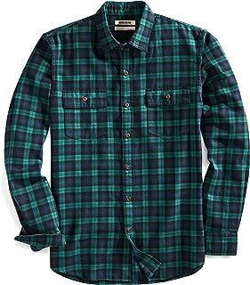 Amazon Brand - Amazon Brand - Goodthreads Men's Slim-Fit Long-Sleeve Plaid Twill Shirt
