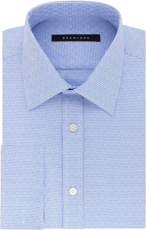 Sean John Baltimore Mall Men's Tailored Fit Collar Dress Japan Maker New Check Spread Shirt