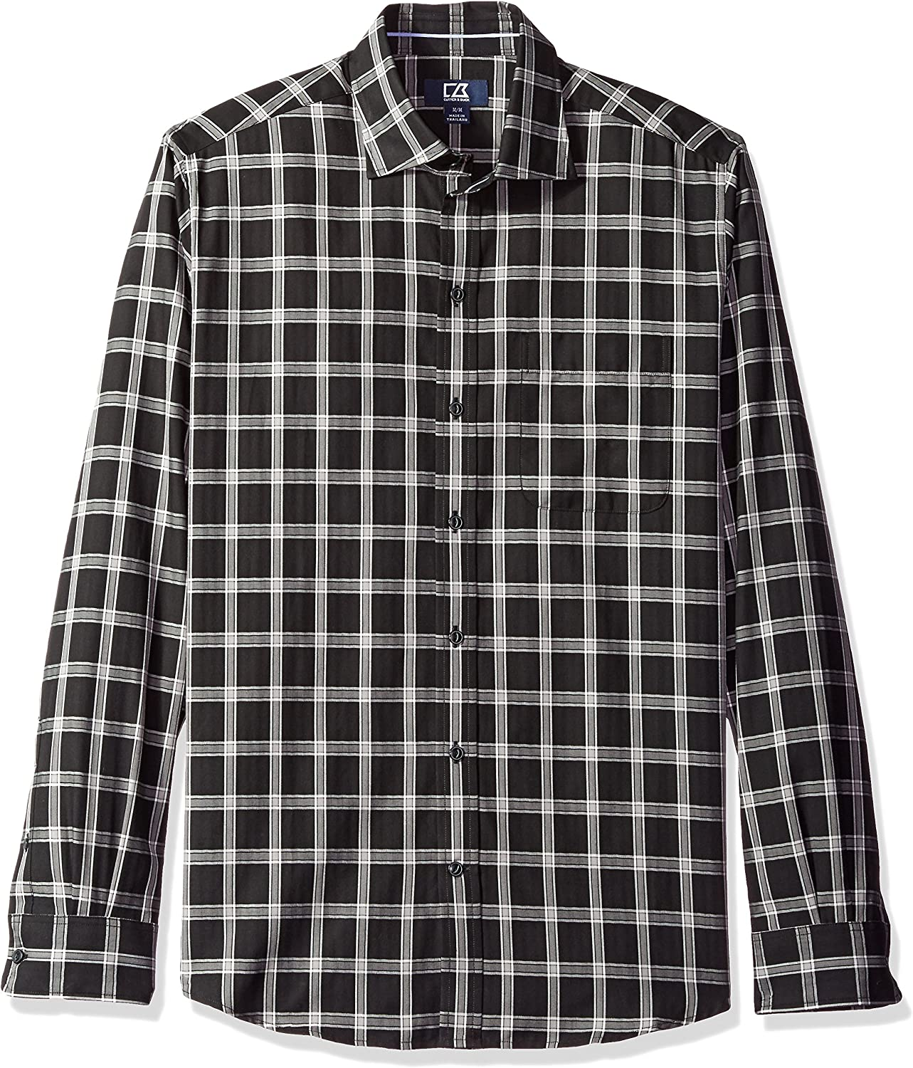 Cutter & Buck Men's Big and Tall Long Sleeve Summit Check