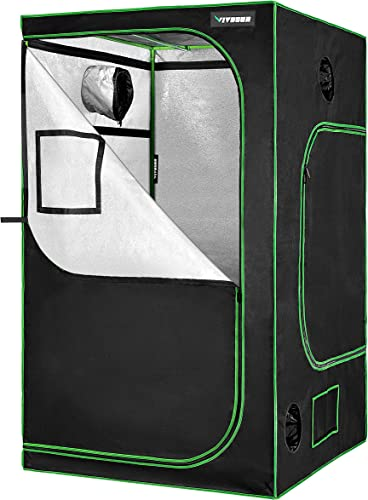 """new arrival VIVOSUN 48"""" x 48"""" x 80"""" discount Hydroponic Mylar Grow Tent with Observation discount Window and Floor Tray for Indoor Growing – 4' x 4' outlet online sale"""