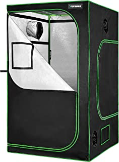 """VIVOSUN 48""""x48""""x80"""" Mylar Hydroponic Grow Tent with Observation Window and Floor Tray for Indoor Plant Growing 4` x4`"""