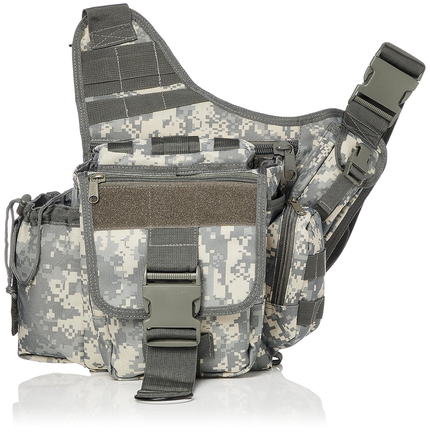 聴覚明るくする犠牲[ロスコ] Advanced Tactical Bag ボディバッグ 頑丈 丈夫 多機能 収納多数 ポケットいっぱい 2WAY