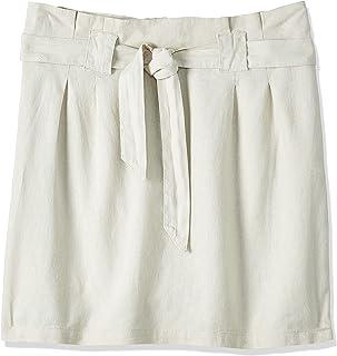 ONLY Women's Onlpalma Hw Linen Mix Paper Skirt PNT, Grey, 12 (Size: 38)